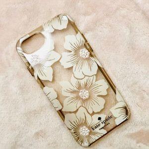 Kate spade ♠️ pink floral 7/8 studded phone case